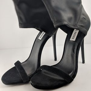 Black Steve Madden Stiletto Ankle Heels